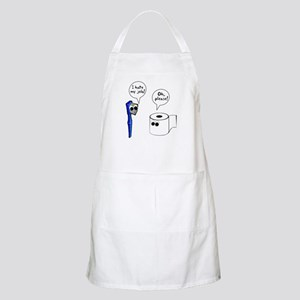 Tooth Toilet Paper Worse Job Apron