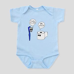 Tooth Toilet Paper Worse Job Infant Bodysuit