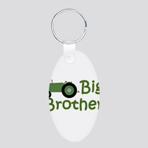 Big Brother Green Tractor Aluminum Oval Keychain