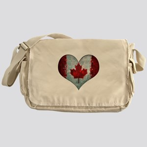Canadian heart Messenger Bag