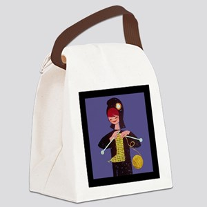 french knitter Canvas Lunch Bag