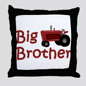 Big Brother Red Tractor Throw Pillow