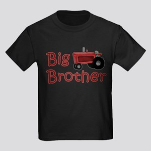 Big Brother Red Tractor Kids Dark T-Shirt