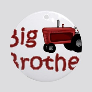 Big Brother Red Tractor Ornament (Round)