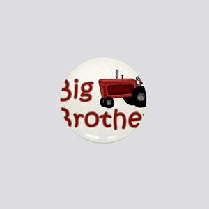Big Brother Red Tractor Mini Button