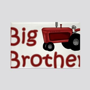 Big Brother Red Tractor Rectangle Magnet