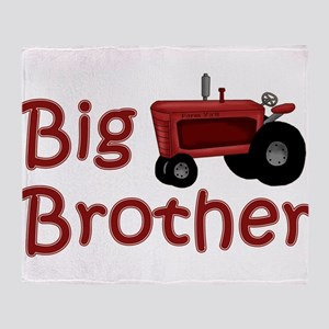 Big Brother Red Tractor Throw Blanket