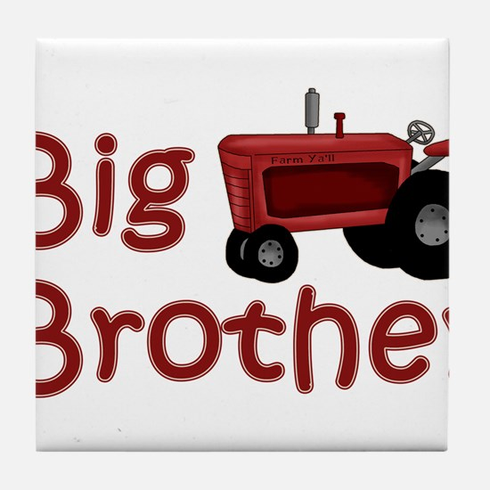 Big Brother Red Tractor Tile Coaster