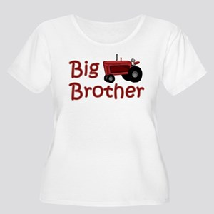 Big Brother Red Tractor Women's Plus Size Scoop Ne