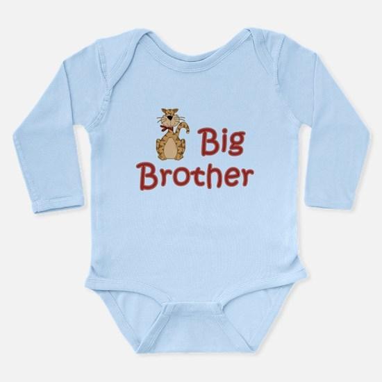 Big Brother Tabby Cat Long Sleeve Infant Bodysuit