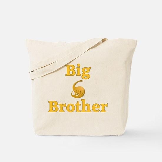 Big Brother Yellow Dinosaur Tote Bag