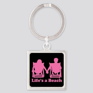 Life's a Beach Square Keychain