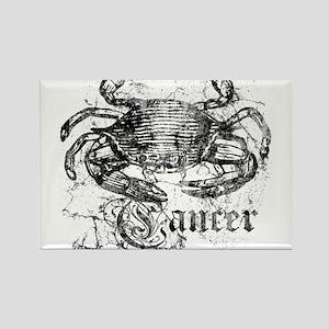 Worn Zodiac Cancer Rectangle Magnet