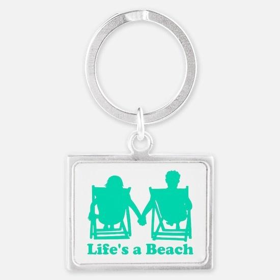 Life's a Beach Landscape Keychain