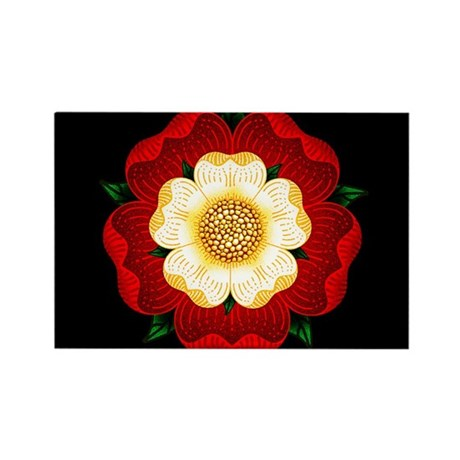 Tudor Rose Rectangle Magnet