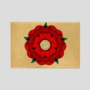 Red Rose Of Lancaster Rectangle Magnet