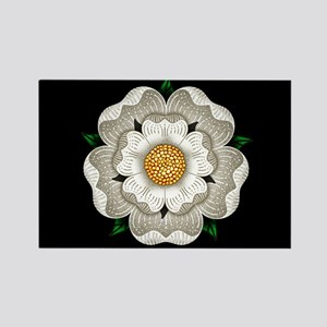 White Rose Of York Rectangle Magnet