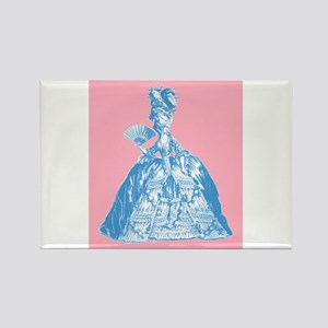 18th Century Lady Blue Rectangle Magnet