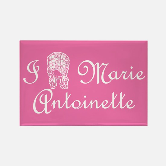 I Love (Wig) Marie Antoinette Pink Rectangle Magne