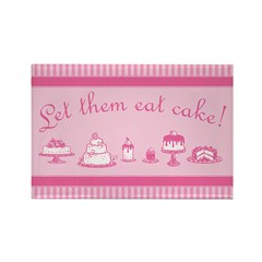 Sweet Pink Let Them Eat Cake Rectangle Magnet