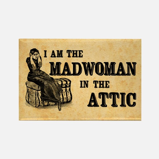 Madwoman In The Attic Rectangle Magnet