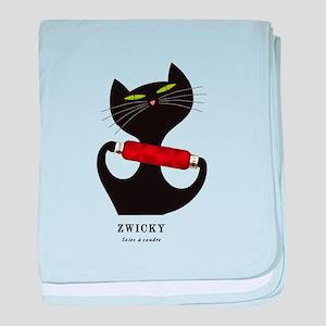 black cat thread baby blanket