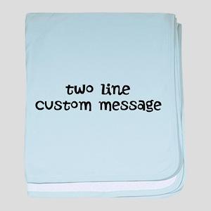 Two Line Custom Message baby blanket