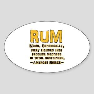 Bierce Rum Sticker (Oval)
