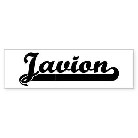 Black jersey: Javion Bumper Sticker