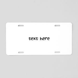 One Line Custom Message Aluminum License Plate