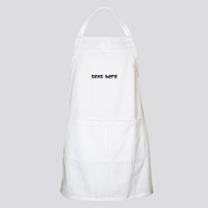 One Line Custom Message Apron