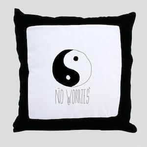 no worriez Throw Pillow