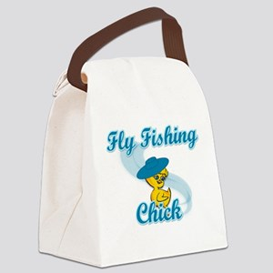 Fly Fishing Chick #3 Canvas Lunch Bag