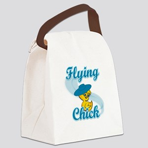 Flying Chick #3 Canvas Lunch Bag