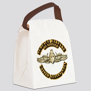 Navy - Surface Warfare - Gold Canvas Lunch Bag