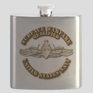 Navy - Surface Warfare - Gold Flask