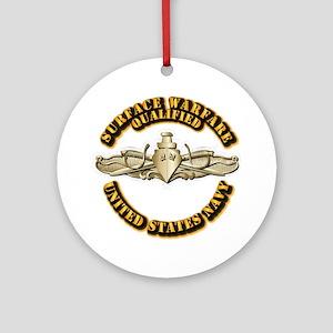 Navy - Surface Warfare - Gold Ornament (Round)