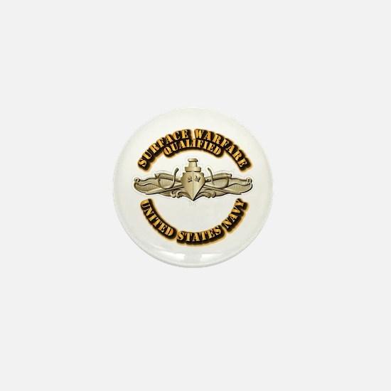 Navy - Surface Warfare - Gold Mini Button