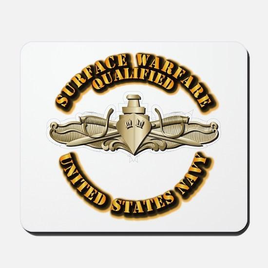 Navy - Surface Warfare - Gold Mousepad