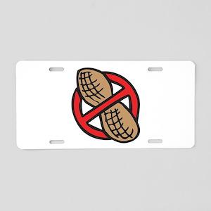 No Peanuts! Aluminum License Plate
