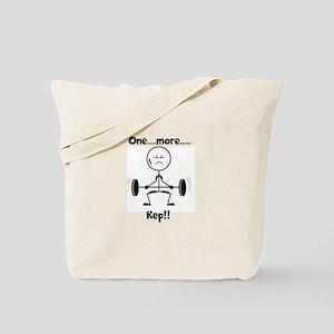 One More Rep Tote Bag