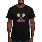 Lollipops NO LICKING Men's Fitted T-Shirt (dark)