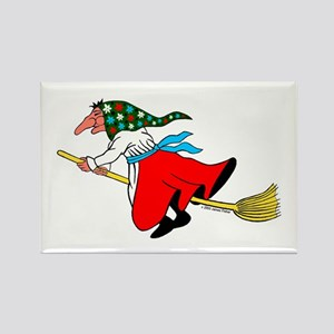 Norwegian Good Luck Kitchen Witch Rectangle Magnet