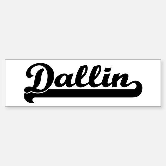 Black jersey: Dallin Bumper Bumper Bumper Sticker