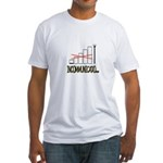Incommunicado. No bars, no signal. Fitted T-Shirt