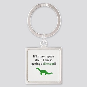 If History Repeats Square Keychain