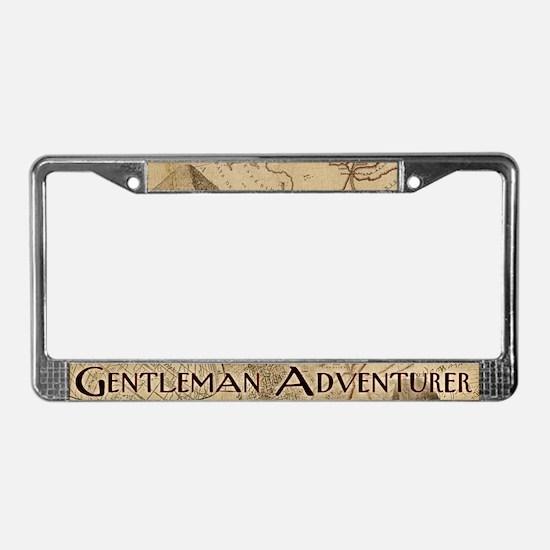 Gentleman Adventurer License Plate Frame