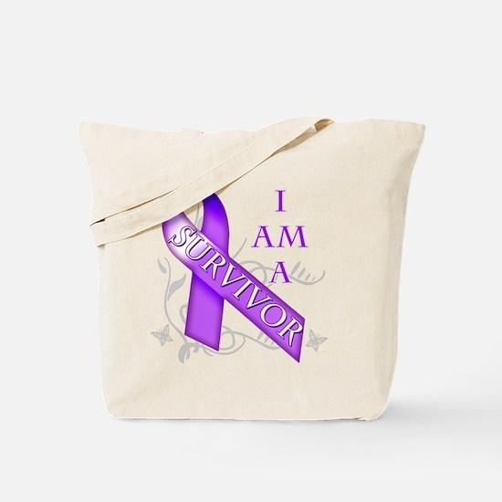 I Am a Survivor (purple).png Tote Bag