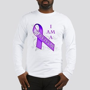 I Am a Survivor (purple) Long Sleeve T-Shirt
