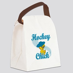 Hockey Chick #3 Canvas Lunch Bag